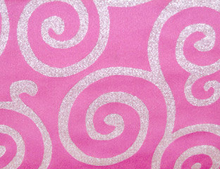 Metallic Scroll Pink & Silver Linens