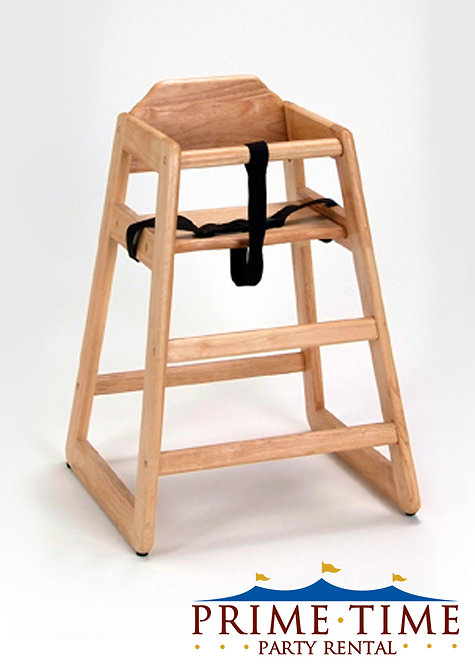 Natural Oak Children's High Chair