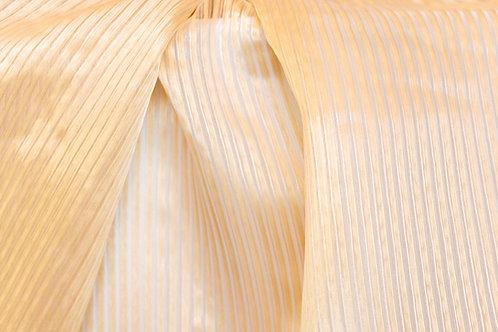 Vertigo Stripe Ivory Sheer Linen