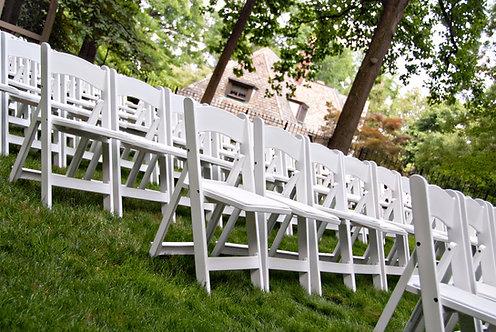 White Resin Folding Chair