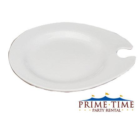 White Hors D'oeuvres / Wine Plate