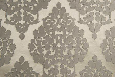 Tiffany Chrome Jacquard Damask Linen