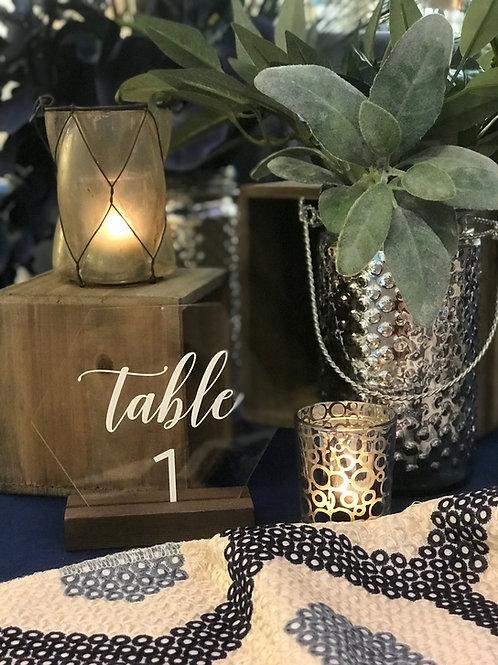 Acrylic Table Number - Hexagon