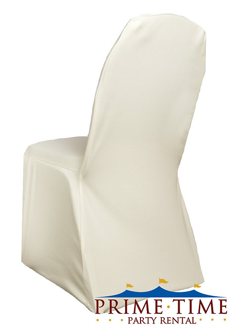 Banquet Stretch Ivory Chair Cover