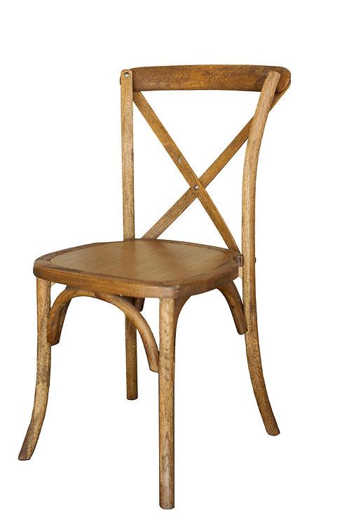 Chestnut Cross Back Vineyard Chair