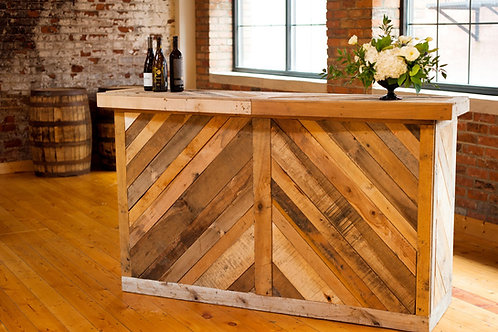 Rustic Wood Pallet Bar