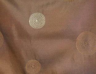 Circle Taffeta Brown Linen