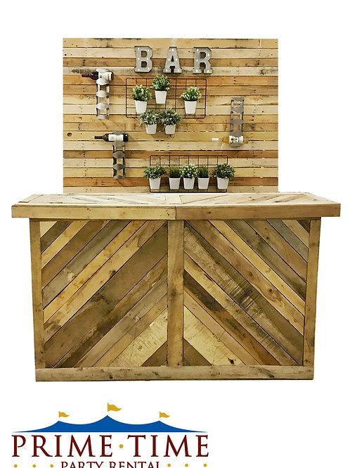 Rustic Wood Pallet Bar