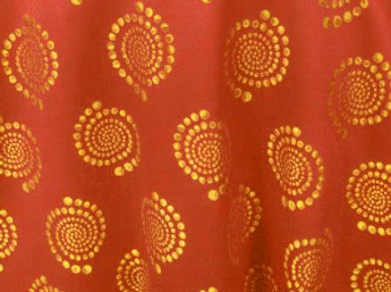 Kaleidoscope Bubble Papaya Linen