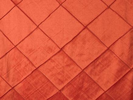 Pintuck Taffeta Orange Linens