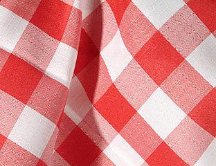 Gingham Check Red & White Linens