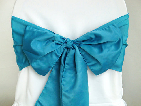 Lamour Teal Chair Sash