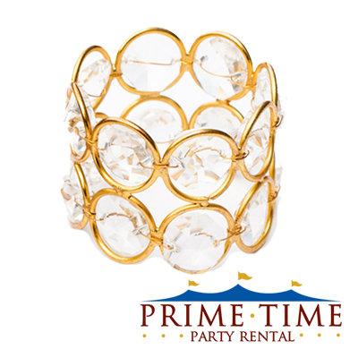 Crystal Beaded Gold Napkin Ring
