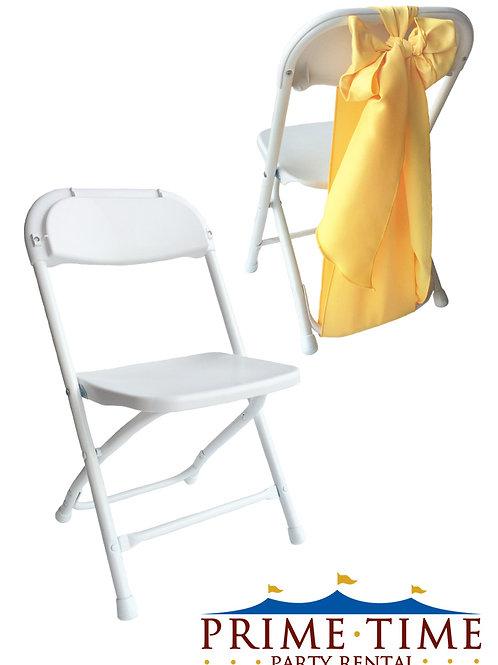 Kids White Samsonite Chrome Chairs
