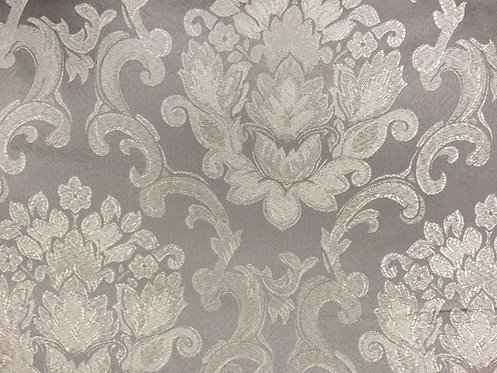 Beethoven Silver Damask Linen