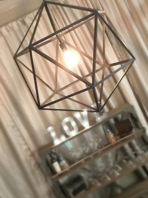 Orbit Geometic Industrial Edison Bulb Chandelier