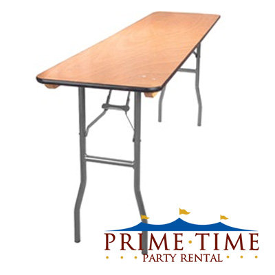 Rectangular Wood Top Classroom Table 6' x 18""