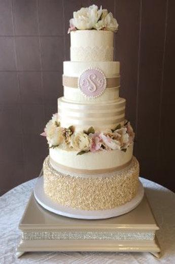 Diamond Cake Stand Champagne Square