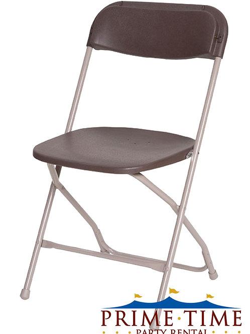 Brown Samsonite Chrome Chairs