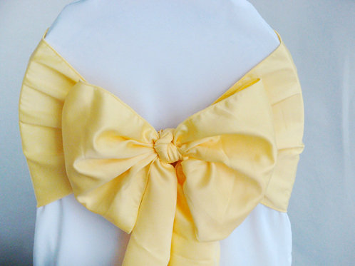Lamour Canary Yellow Chair Sash