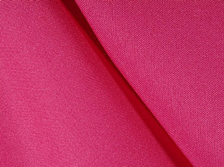 Solid Poly Raspberry Linen