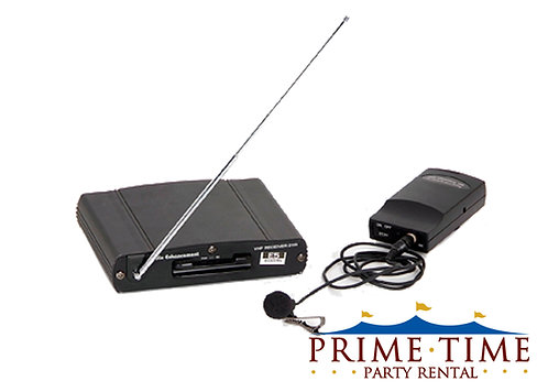Wireless Microphone System with Lapel Mic