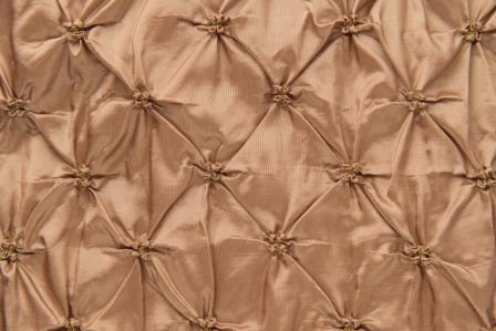 Puckered Taffeta Gold Linens