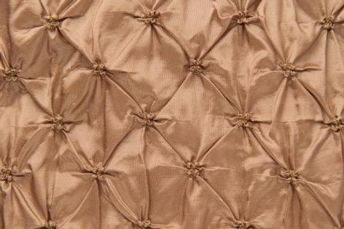 Puckered Taffeta Gold Linens