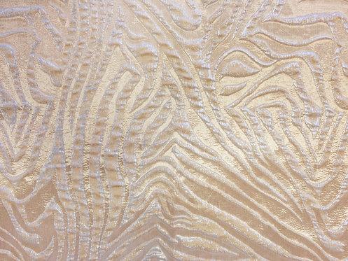 Zebra Glam Frosted Metallic Linen