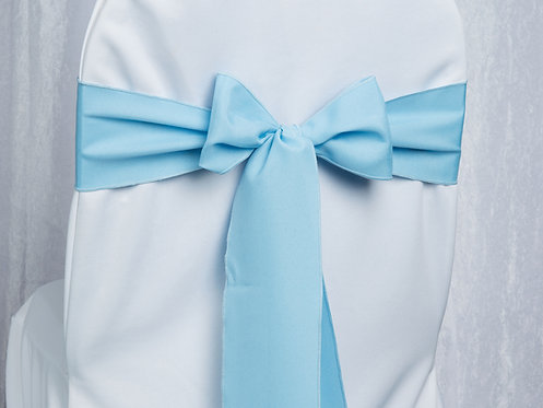 Poly Light Blue Chair Sash