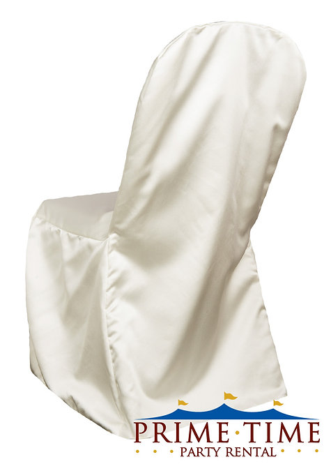 Matte Satin Ivory Banquet Chair Cover