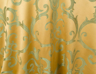 Chopin Gold with Sage Damask Pattern