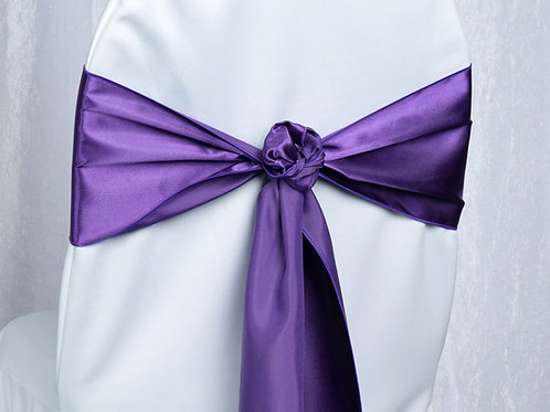 Satin Purple Chair Sash