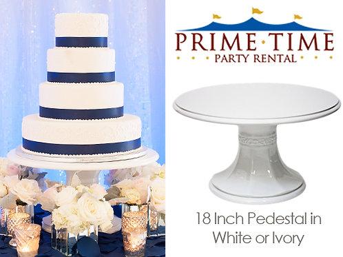 """Round Pedestal Cake Stand 18"""""""