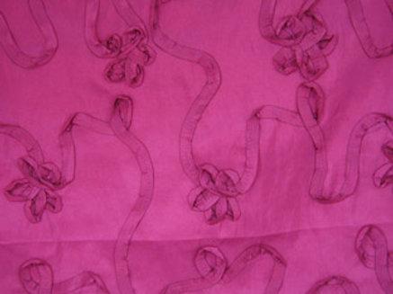 Ribbon Taffeta Fuchsia Linen