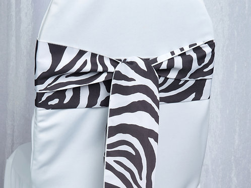 Poly Zebra Print Chair Sash