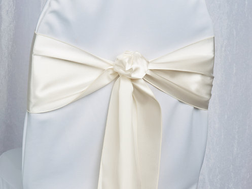 Satin Ivory Chair Sash