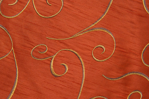 Nova Swirl Burnt Orange Linen