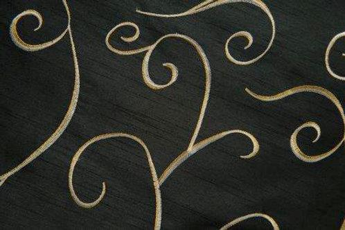 Nova Swirl Black Linen