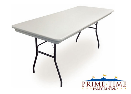 Rectangular Poly Top Banquet Table 6' x 30""