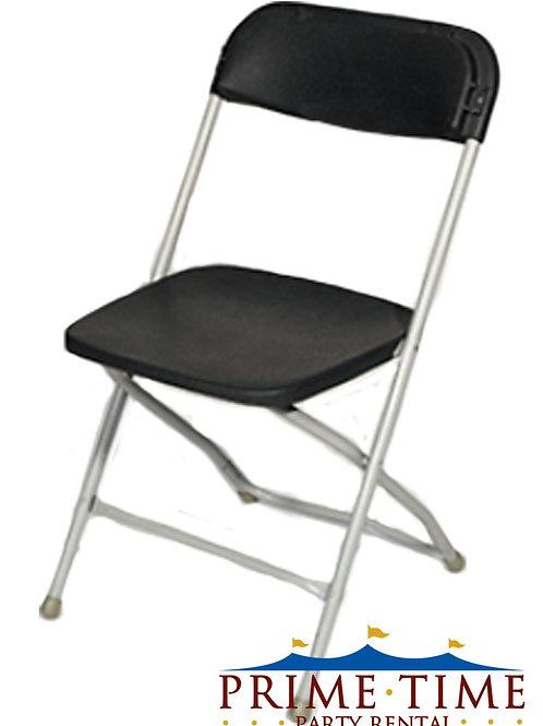 Black Samsonite Chrome Chairs