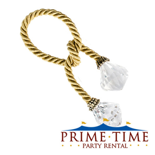 Gold Rope Crystal Napkin Ring