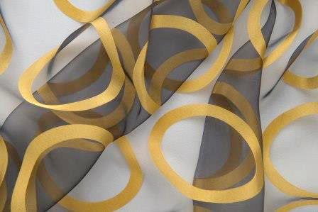 Organza Rings Black & Gold Linen