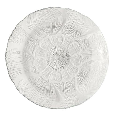 "Fleur Glass Plate 7"""