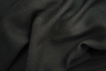 Nature Linen-Look Black Linens