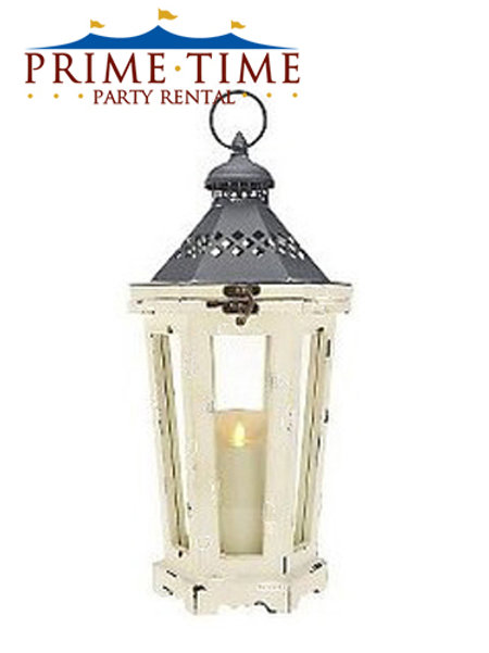 Rustic Ivory Lantern