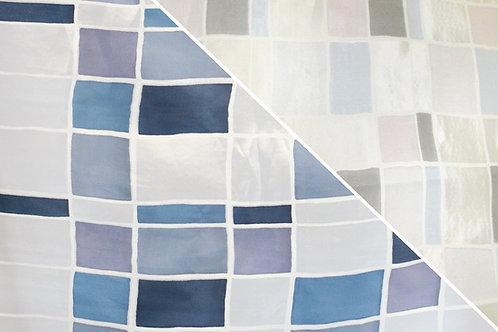 Mosaic Burnout Blue Hue Linen
