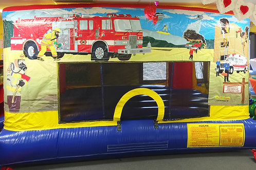 Indoor Fire Truck Bounce House