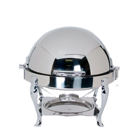 Full Chafer Stainless Steel Round Rolltop 8 quart