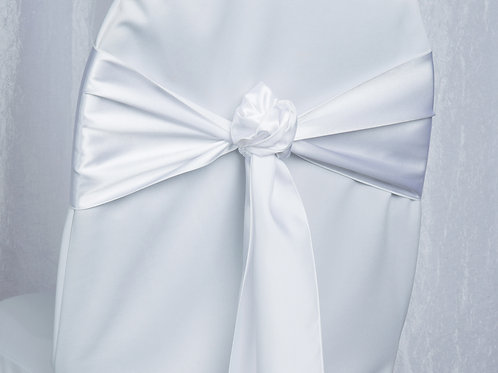 Satin White Chair Sash